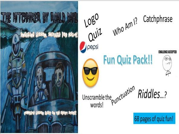 The Hitchhiker Roald Dahl + Fun Quiz Pack with Harris Burdick Starters