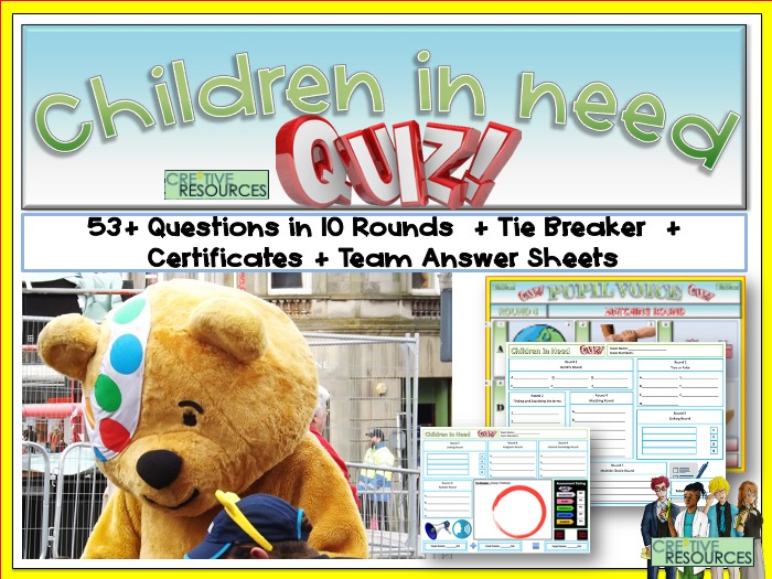 Children In Need Quiz