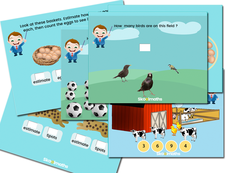 Year 1 counting activity cards