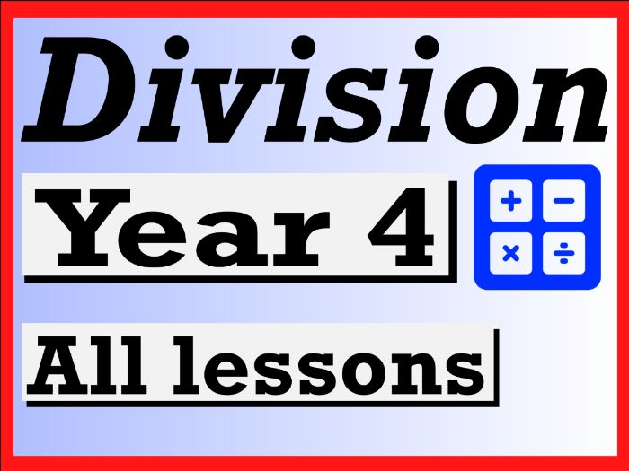 Year 4 Division