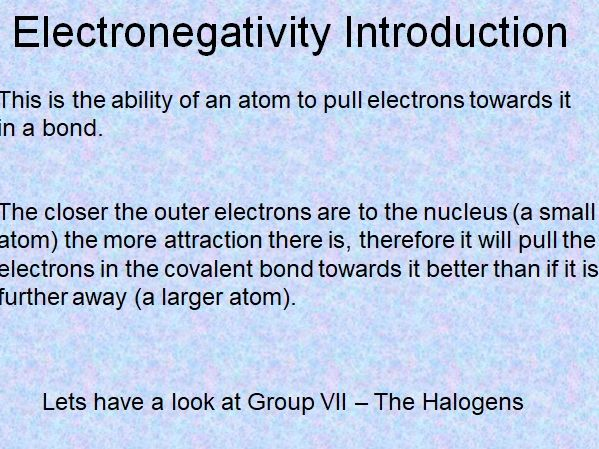 Electronegativity Animation Slides