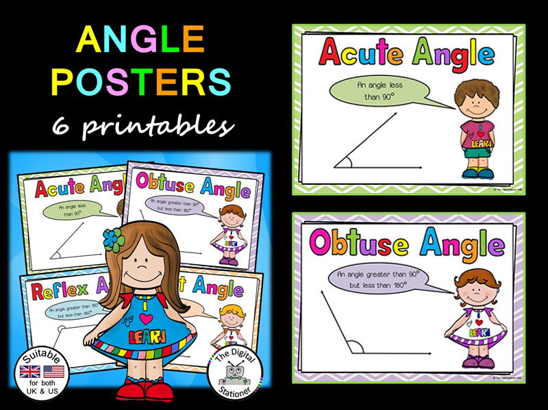 Angle Posters (suitable UK/US) - 6 posters