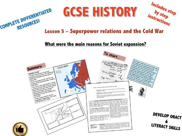 Edexcel 9-1 Superpower Relations & The Cold War L5: What were the main reasons for Soviet expansion?