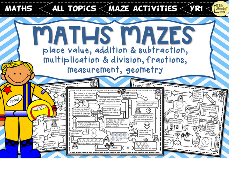 Maths Mazes Year 1