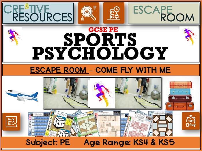 Sports Psychology PE Escape Room