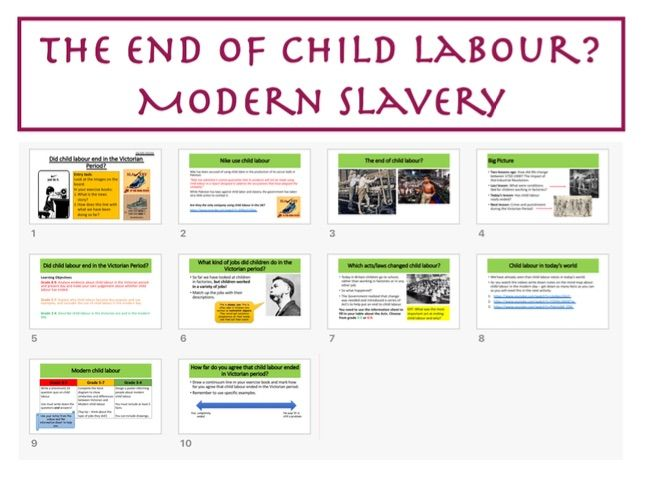 The end of child labour? Modern slavery