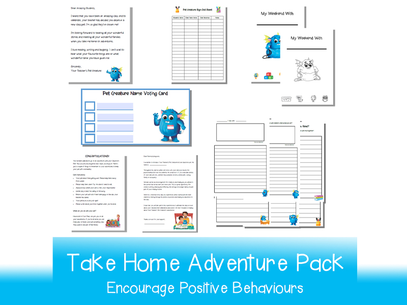 Your Teacher's Pet Creature - Take Home Adventure Pack | Printable