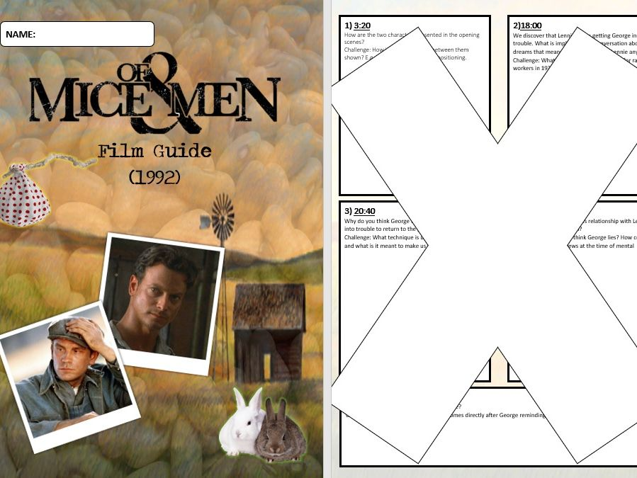 Of Mice and Men Film Question Booklet