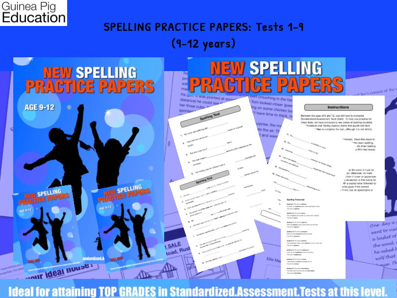 Let's Practice SATS Spelling Tests (Tests 1-9) (9-12 years)