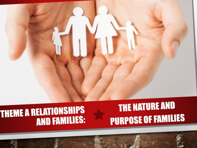 AQA Theme A Relationships and Families 6: The Nature and Purpose of Families