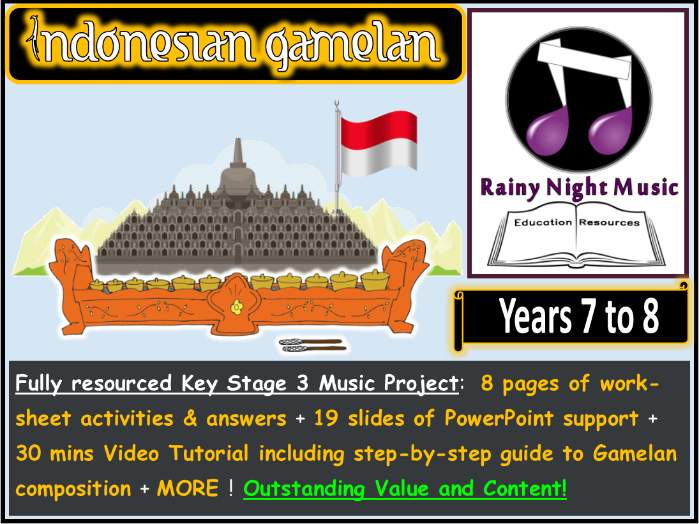 Gamelan Music of Indonesia Project Year 7 and 8