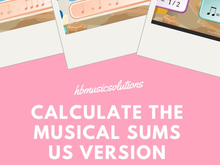 Calculate The Music Sums US Version Interactive Game