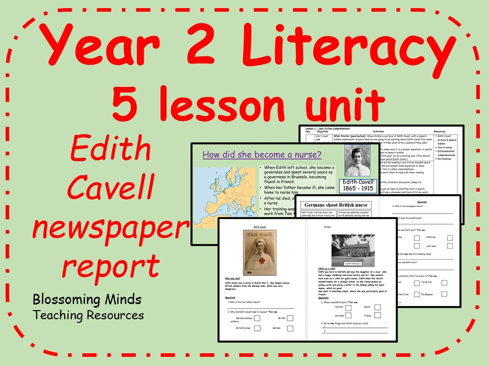 Year 2 Literacy - 5 lesson plan, Edith Cavell
