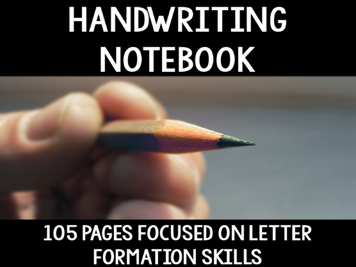 Handwriting Practice Page Notebook - Letter formation skills