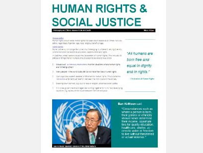 WJEC Eduqas: Issues of Human Rights: Human Rights and Social Justice Exam Booklet