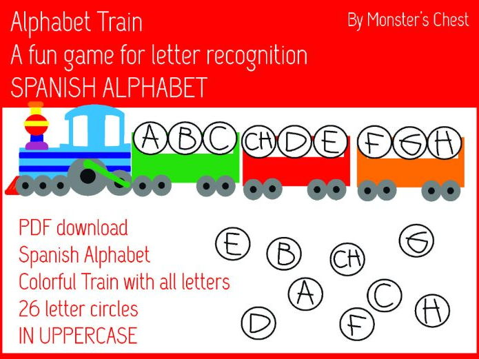 Spanish Alphabet Letter Train