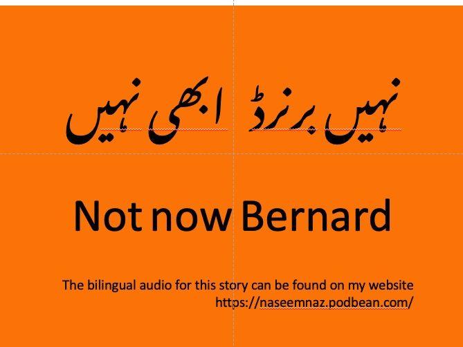 Not Now Bernard