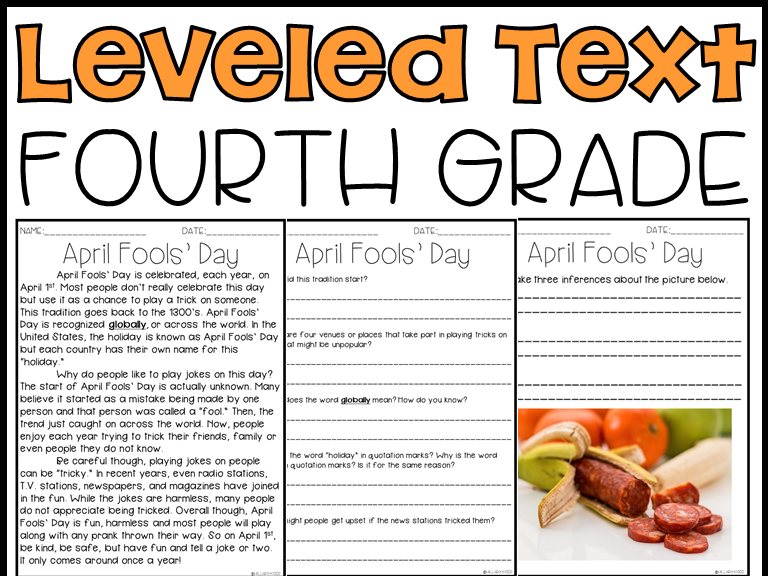 Leveled Text: 4th Grade