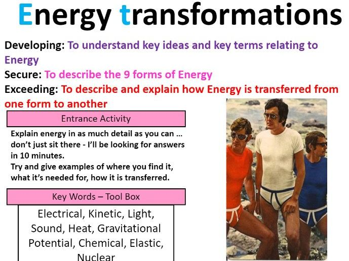 Types of Energy stores - FREE lesson