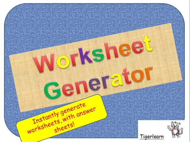 Tigerlearn Teaching Resources TES – Multiplication Generator Worksheets Free
