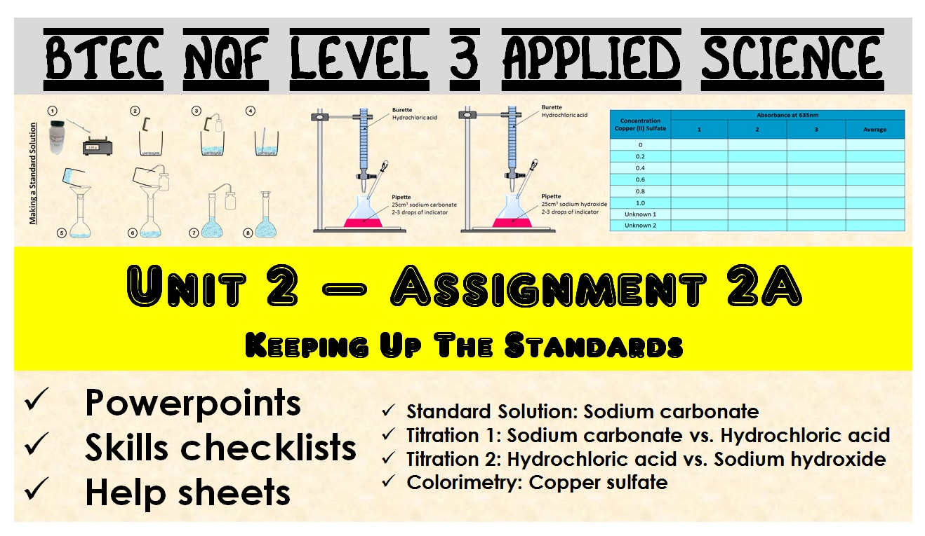 BTEC NQF L3 Applied Science: Unit 2: Assignment A