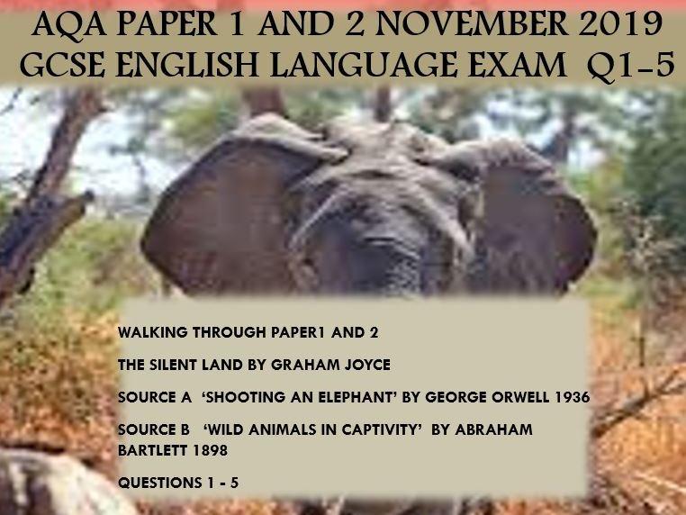 P1 and P2 November 2019 GCSE English Language Exam