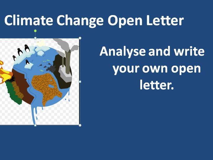 Climate Change Open Letter