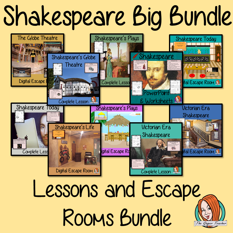 Shakespeare Lessons and Escape Rooms Big Bundle