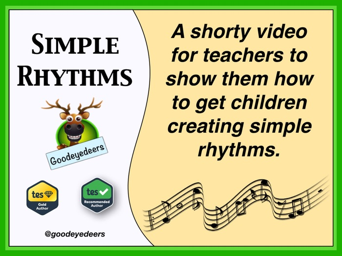 Simple Rhythms - Music Ideas For KS1 & 2