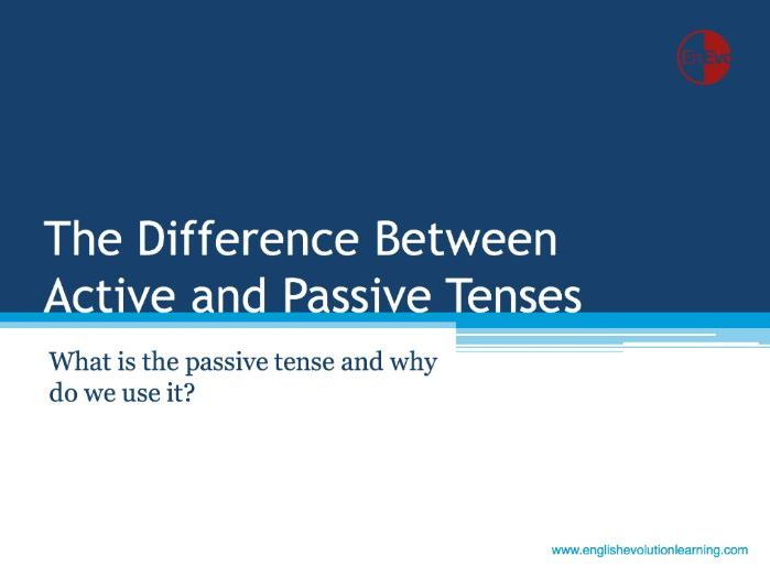 The Passive Tense and How to Use It (B1 & B2)