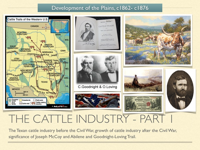 GCSE History American West in 1800s. The cattle industry. Part 1