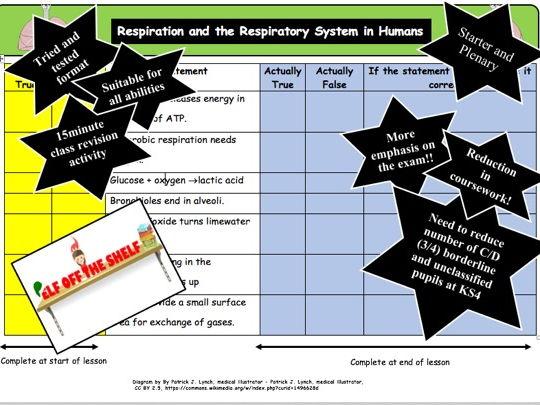 Respiration KS4 Starter and Plenary