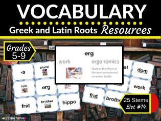 Vocabulary Activities for Greek and Latin Roots-List #14