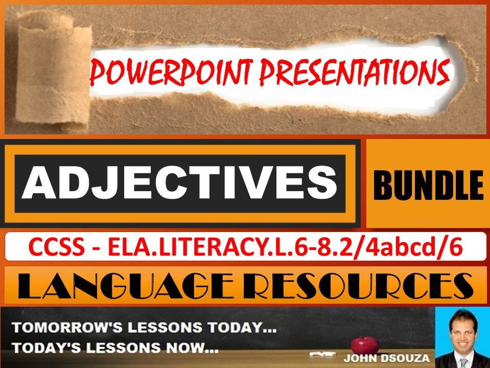 ADJECTIVES: POWERPOINT PRESENTATIONS - BUNDLE