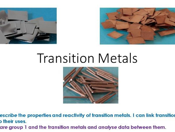 Transition Metals and Group 1 Lesson