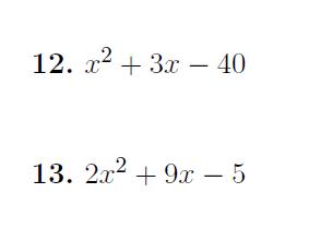 Factorising quadratics worksheets (with solutions)