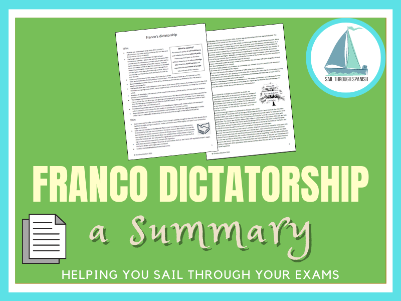 Franco's Dictatorship: A Summary for Spanish AS/A Level