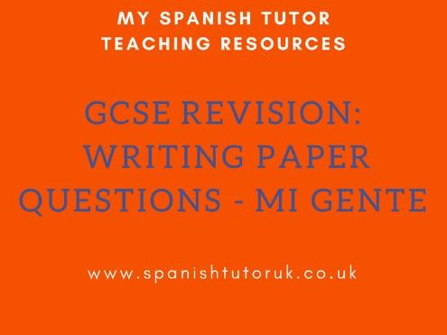 GCSE Writing Paper Questions Foundation - Mi Gente