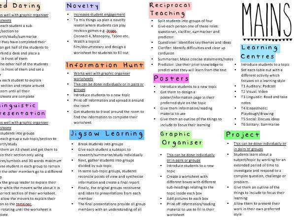 Main Activity Ideas