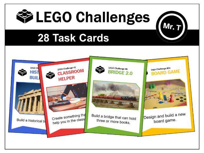 LEGO Challenges - 28 Task Cards