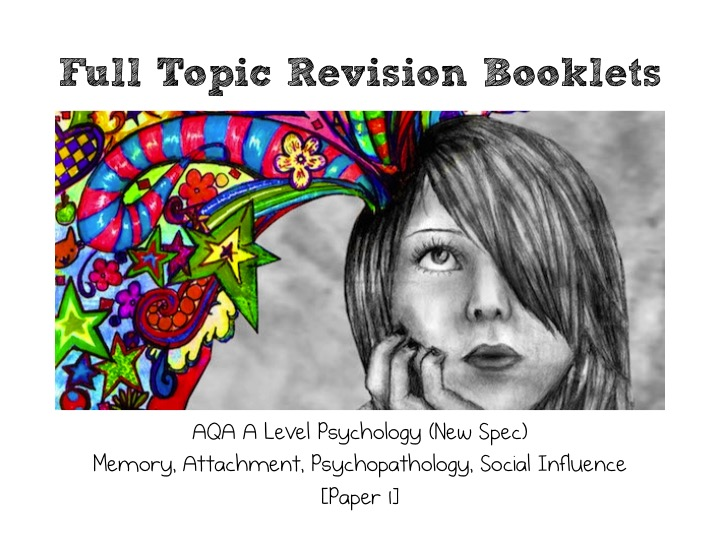 AQA A Level Psychology (New Spec) WHOLE TOPIC Revision Pack [Paper 1]