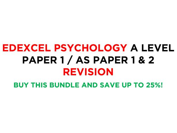 Edexcel A Level Psychology Paper 1 Revision