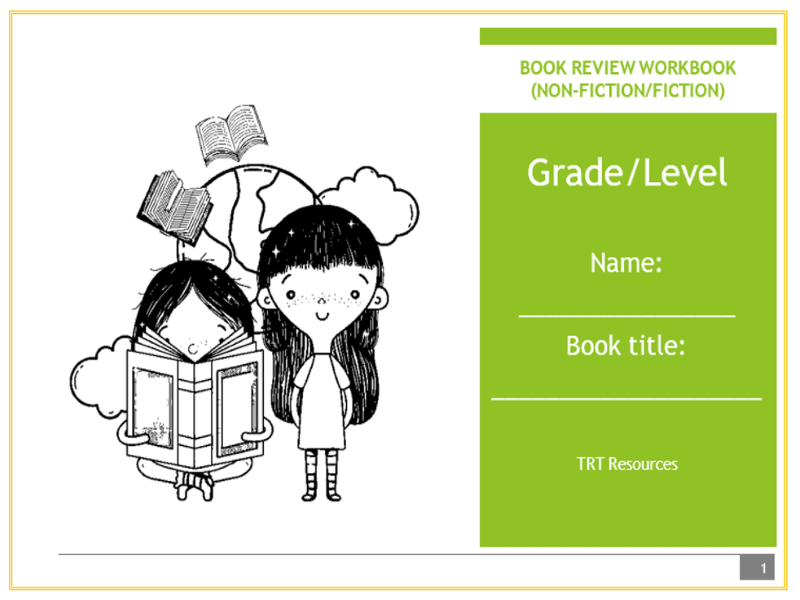 Book Review Workbook - Non-Fiction/Fiction Reading