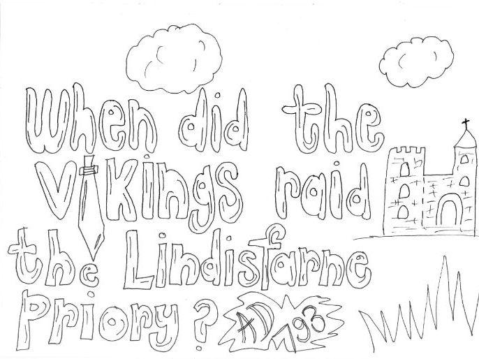 Vikings: Lindisfarne Raid: Colouring Page