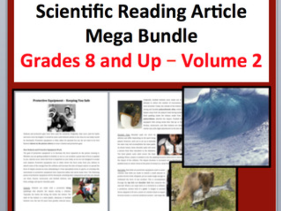 Science Article Bundle Volume 2 - Grade 8 and Up - 13 Science Readings