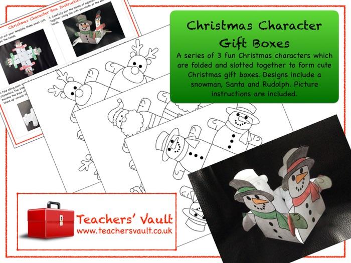 Christmas Character Gift Boxes