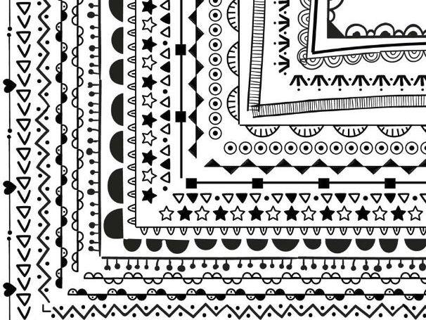 100 Non-Seasonal Borders and Frames, Border Paper