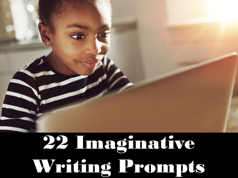 22 Imaginative Writing Prompts: Google Classroom: Remote Learning: Grades 3 - 6