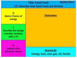KS3 Year 7 Exploring Science - Energy Topic
