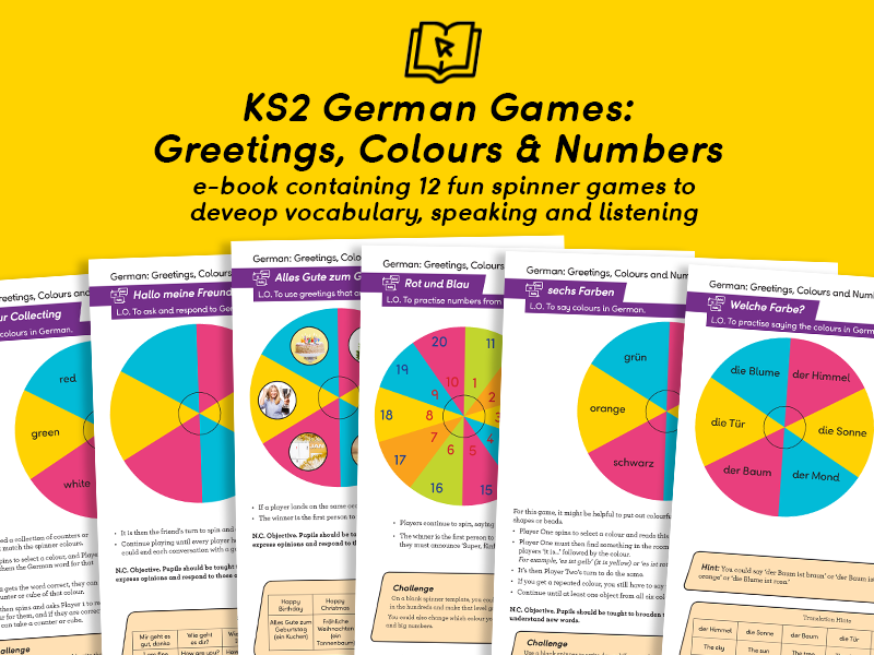 KS2 German Greetings, Numbers & Colours